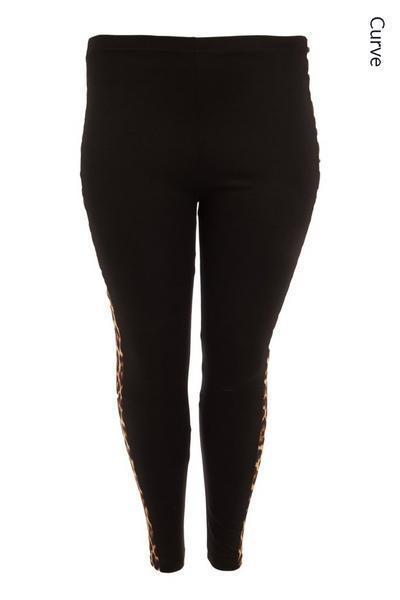 Curve Black Animal Print Leggings